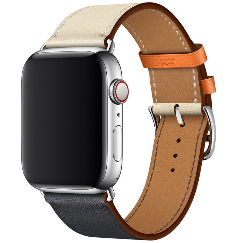 Genuine Leather Watch Strap For Apple Watch Series 4 Wrist Band Colorful Single Tour Bracelet For Apple Series 1 2 3 Watchbands for apple series 4 double tour watchbands genuine leather strap wrist watch band for apple watch 1 2 3 4 herm bracelet 40mm 44mm