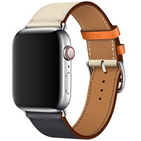 Genuine Leather Watch Strap For Apple Watch Series 4 Wrist Band Colorful Single Tour Bracelet For Apple Series 1 2 3 Watchbands