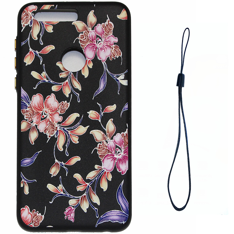 3D Relief flower silicone case huawei honor 8 (8)