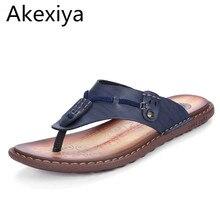 Akexiya Tamaño Grande 47 De Cuero Para Hombre Chanclas Sandalias de Playa zapatillas Para Los Hombres de Verano Zapatos Casuales Hombres Respirables de Toboganes de Agua zapatos