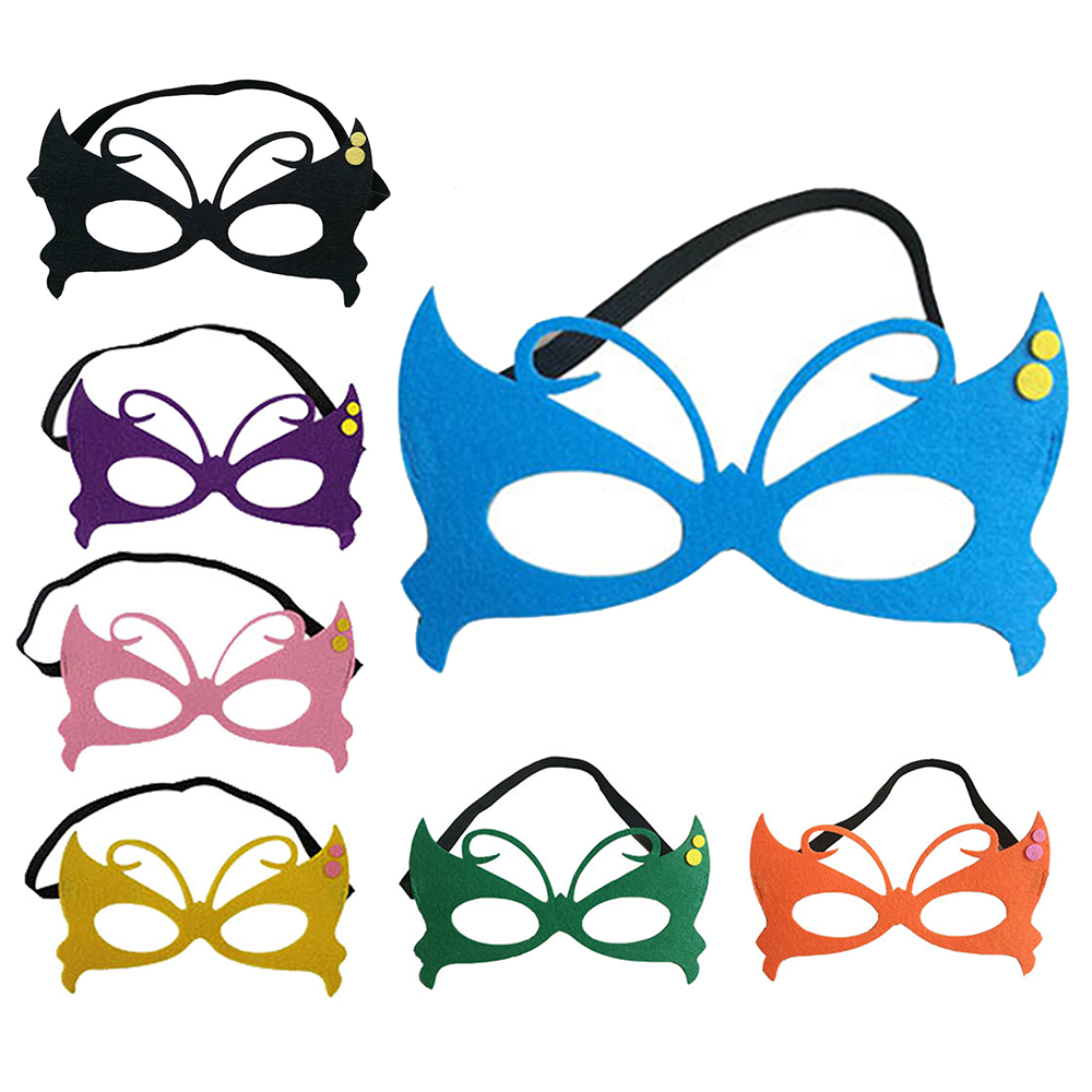 7pcs Children Face Shield Butterfly Masquerade Carnival Halloween Upper Half Party Masks Festival Party Supplies Mask Solid