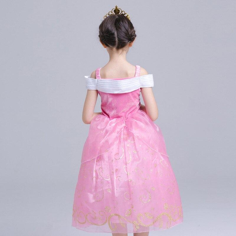 ABGMEDR Brand New Fashion Girl Aurora Dress Girls Children Christmas Chothing Girl Kids Ariel Clothes Monsoon Girls Pink Dresses