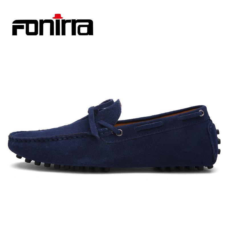 FONIRRA Men Loafers Genuine Leather Shoes Men Driving Shoes Breathable Male Casual Flats Loafers Chaussure Homme Moccasin  716  men leather boat shoes vintage lace up casual driving shoes man fashion flats chaussure homme large size 46 loafers zapatillas