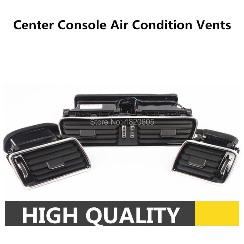1 Set OEM Center Console Air Condition Vents For VW Passat B6 B7 CC R36 3AD 819 701 A 3AD 819 702 A 3pcs oem black piano paint chrome car center console air condition vents for passat b6 b7 cc r36 3ad 819 701 a 3ad 819 702 a