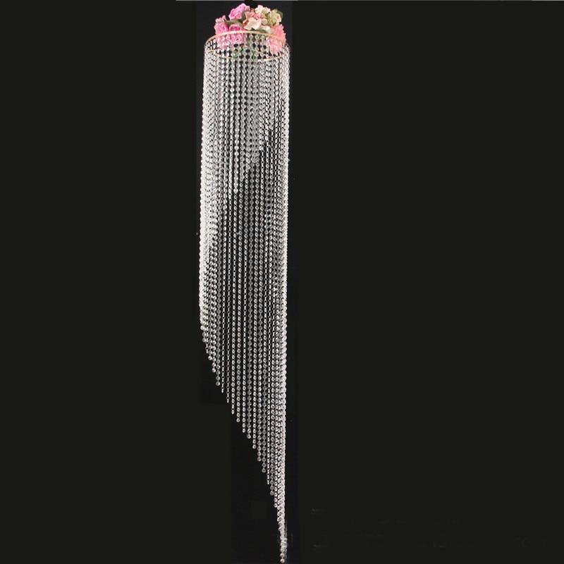 180 см высокие свадебные люстры, настольные центральным с кристально гирлянды цветов стенд