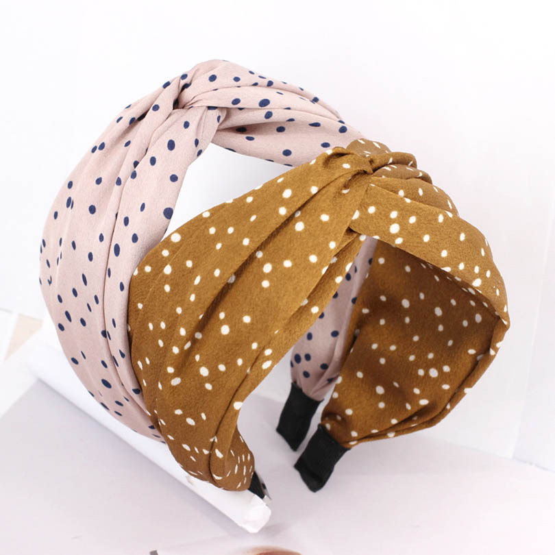 4 Colors Floral Print Hair Hoops Women Knotted Bow Headband For Girls Bow Handmade Cross Hairbands Boutique Hair Accessories