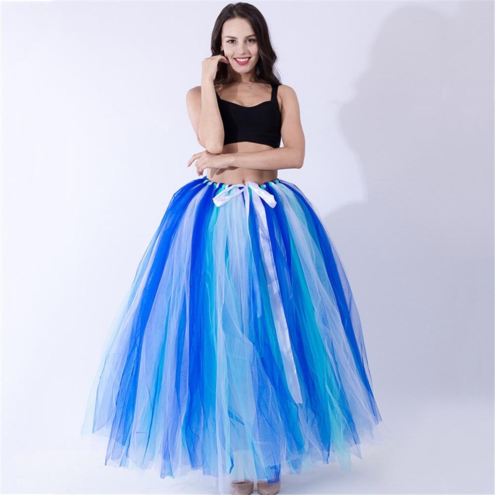 Cosplay Tulle Skirt Pleated Tutu Skirts Womens Lolita Petticoat Bridesmaids Vintage Princess Dress Halloween Tree Party Skirt