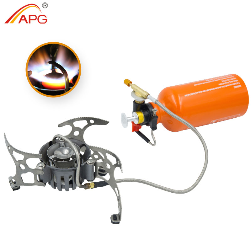 APG newest outdoor kerosene stove burners and portable  oil&gas multi fuel stoves apg 1100ml camping gas stove fires cooking system and portable gas burners