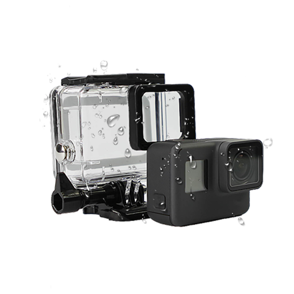 SnowHu 45M Waterpro for Go pro 7 6 5 Accessories For Go pro 7 6 5 Waterproof Housing Case Mount For Gopro Hero 7 6 5 With LD08 in Sports Camcorder Cases from Consumer Electronics
