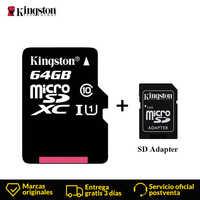 Kingston Micro Carta di DEVIAZIONE STANDARD Mini Scheda di Memoria 16GB 32GB 64GB 128GB MicroSDHC UHS-I SD/TF leggere la Carta Adattatore Flash Card per Smartphone