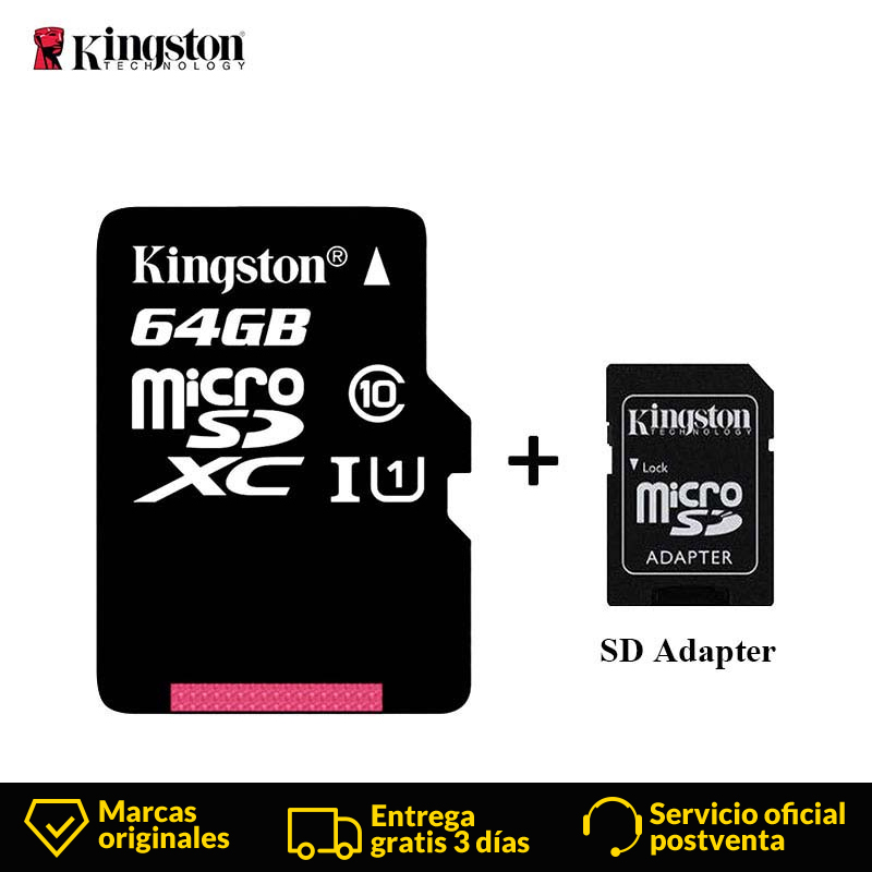 Kingston Micro SD Card Mini Memory Card 16GB 32GB 64GB 128GB MicroSDHC UHS I SD/TF Read Card Adapter Flash Card for Smartphone-in Micro SD Cards from Computer & Office