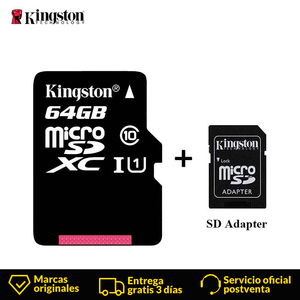 Image 1 - Kingston Micro SD Card Mini Memory Card 16GB 32GB 64GB 128GB MicroSDHC UHS I SD/TF Read Card Adapter Flash Card for Smartphone