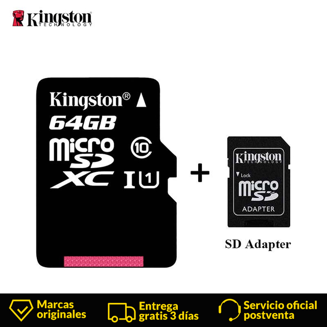 Kingston Micro SD Card Mini Memory Card 16GB 32GB 64GB 128GB MicroSDHC UHS I SD/TF Read Card Adapter Flash Card for Smartphone