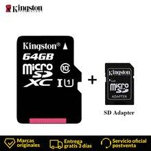 킹스톤 마이크로 sd 카드 미니 메모리 카드 16 기가 바이트 32 기가 바이트 64 기가 바이트 128 기가 바이트 microsdhc UHS I sd/tf 스마트 폰을위한 카드 어댑터 플래시 카드 읽기