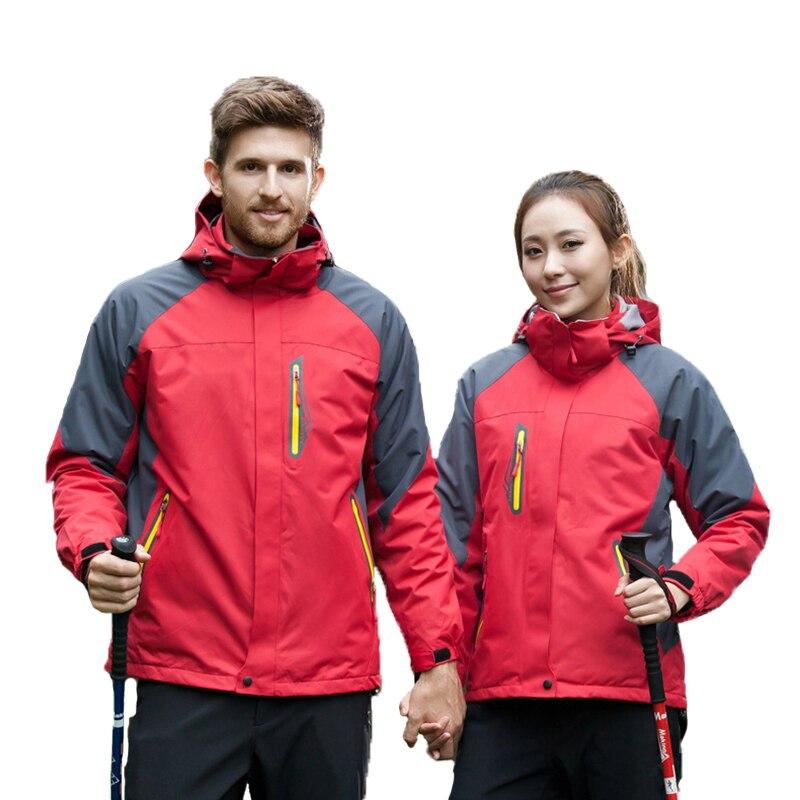 Veste de Ski hommes femmes hiver Sports de plein air randonnée imperméable polaire cyclisme coupe-vent vestes femme mâle grande taille manteau chaud - 2