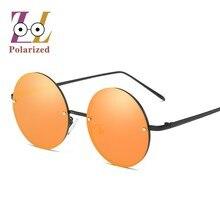New Fashion popular Retro rimless polarized sunglasses women  Retro CIRCLE Brand Design sun glasses for female