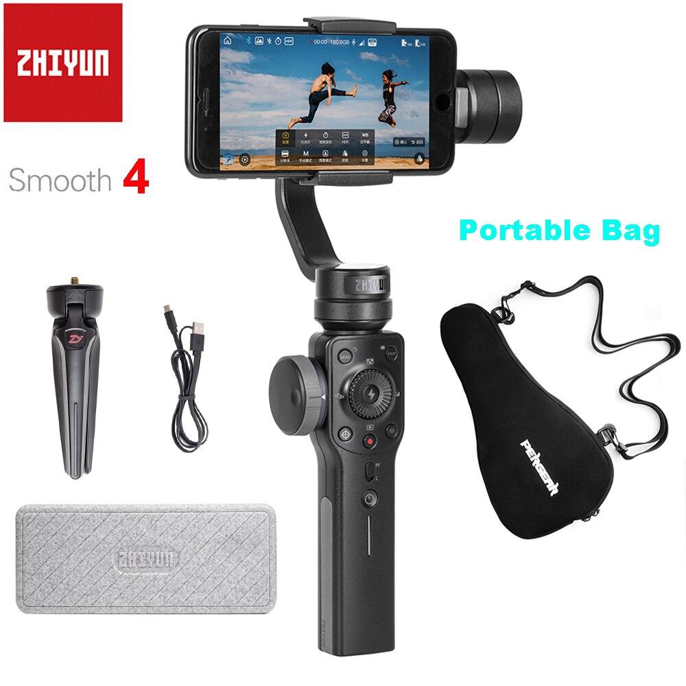 Zhiyun Smooth 4 3-Axes Poche Smartphone Stabilisateur de Cardan pour iPhone X Samsung avec le Sac Portatif Cas PK DJI OSMO Mobile 2