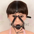 Sex Game Open Mouth Gags Sex Oral Ring PU Leather Head Harness Bondage Fetish Oral Fixation For Women LL277