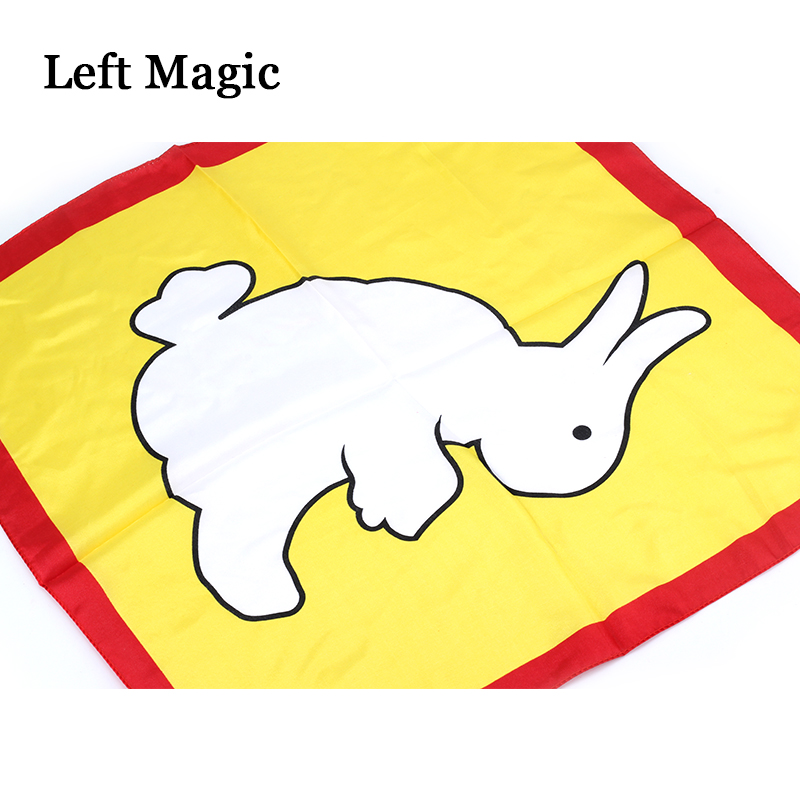 Magic Cloth Change Color Silk Scarf Rabbit To Duck Magic Tricks For Stage Close Up Magic Props Gift For Kid