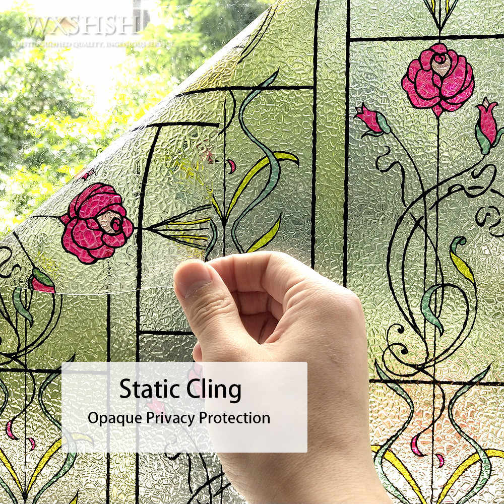 30*100 Centimetri Decorativo Window Film Static Cling Stained Glass Adesivi Blocco di Sole Di Natale Decorazioni Per La Casa di arte del Ferro