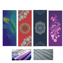 Suede Yoga Blanket Composite Silica Gel Antiskid 185*68cm Strong Grip Absorbent Printed Yoga Towel Pilates Mat Cover For Sports