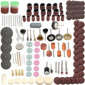 142pcs Electric Grinder Rotary Tool Accessory Bit Set For Dremel Grinding Sanding Polishing Disc Wheel Tip Cutter Drill Disc|Grinders| |  -