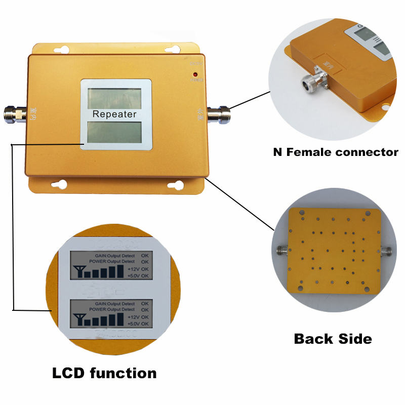LCD 2G 3G gsm repeater 900 2100 dual band signal booster mobile network solution gsm wcdma Cellular Signal booster Amplifier (5)