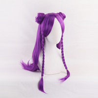 ANOGOL BEAUTY LOL KDA Game Character Cosplay Wig Ahri Akali Kaisa Evelynn Long Purple Red Blonde Synthetic Wig Women Costume