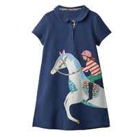 Bébé fille vêtements licorne robe Animal Applique enfants robes de fête pour filles Costume princesse robe coton tunique filles robe