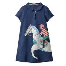 Ropa de bebé niña unicornio vestido Animal apliques niños vestidos de fiesta para niñas disfraz princesa vestido de algodón túnica niñas vestido