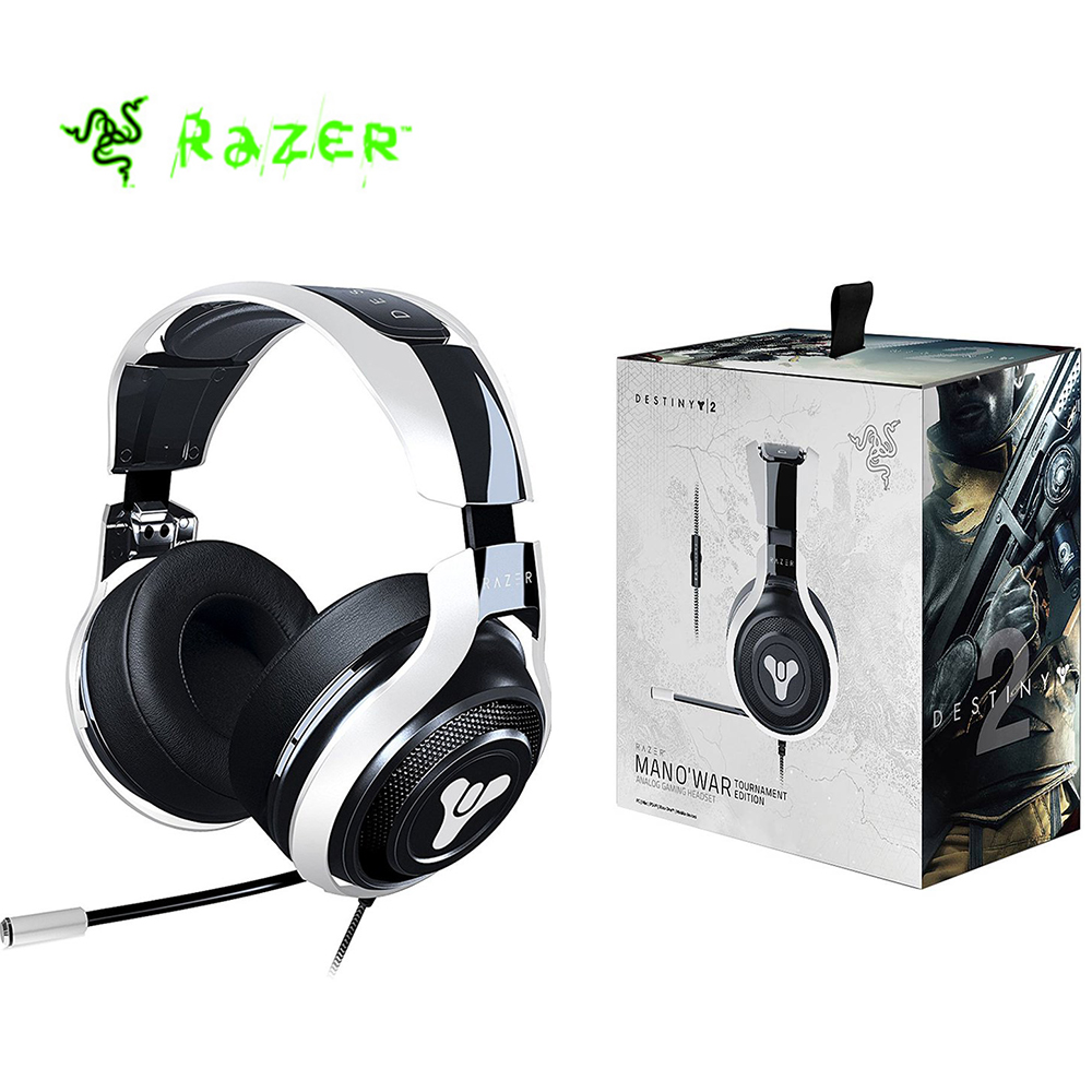 Razer Man OWar Tournament Edition Destiny 2 Edition Gaming Headset with Mic Noise Isolating Analog Gaming Headphone Headset  Razer Man OWar Tournament Edition Destiny 2 Edition Gaming Headset with Mic Noise Isolating Analog Gaming Headphone Headset