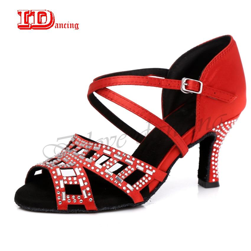 Detail Feedback Questions about IDancing Girls Ballroom Latin Shoes  Sneakers Dance Shoes Women Salsa Shoes Wedding Rhinestone Female Party  Fashion Social ... ebed9e86880e