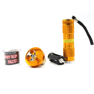Image 5 - Electric Torch Shape Grinder Crusher Crank Leaf Tobacco Smoke Spice Herb Muller Machine Weed Herb Tobacco Grinder Party Gifts