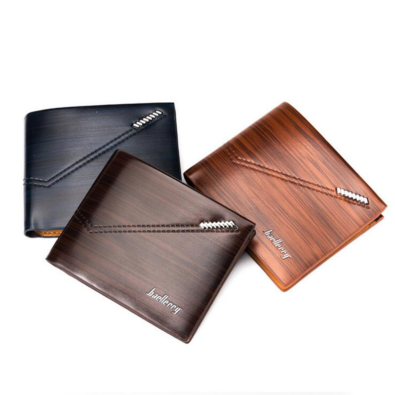 2018 New Fashion Men Short Wallet Business Casual Credit Cards Purse Card Holder Multi-card bit Simple Design Brand Small Wallet