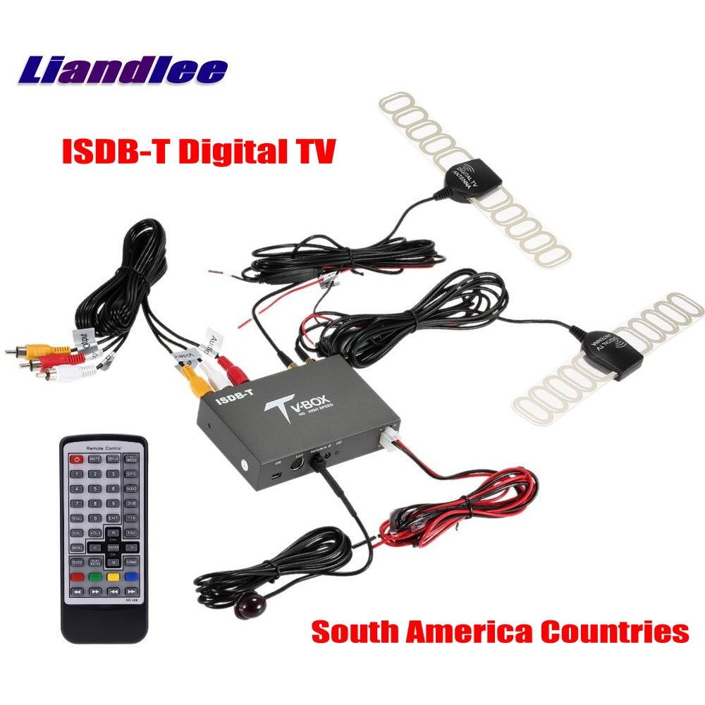 Liandlee South America Car Digital TV ISDB T Receiver Host D TV Mobile HD TV Turner