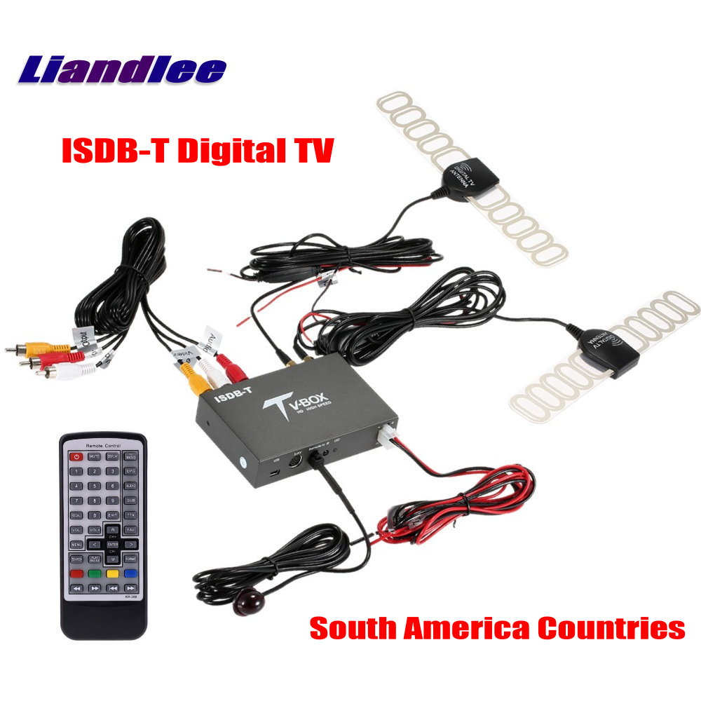 Liandlee South America Car Digital TV ISDB-T Receiver Host D-TV Mobile HD TV Turner Box / 2 Signal Antenna Suitable / ISDB-T518