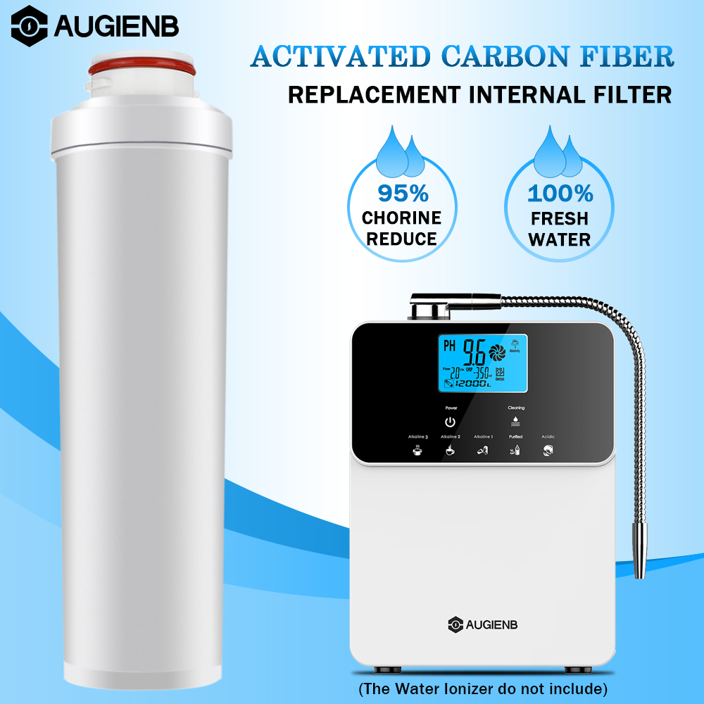 AUGIENB Replacement Internal Active Carbon Filter For AUGIENB Alkaline Water Ionizer Purifier Machine Only white color inner carbon filter for alkaline water ionizer machine oh 806