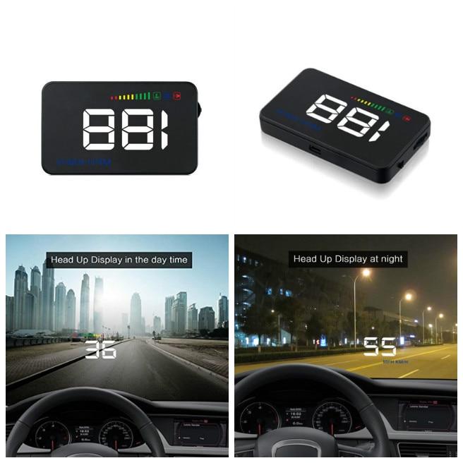 Car 3.5 inch Screen OBD2 Auto HUD Display Reflective Film Overspeed Alarm KM/H Windshield Projector CSL2017 цены онлайн