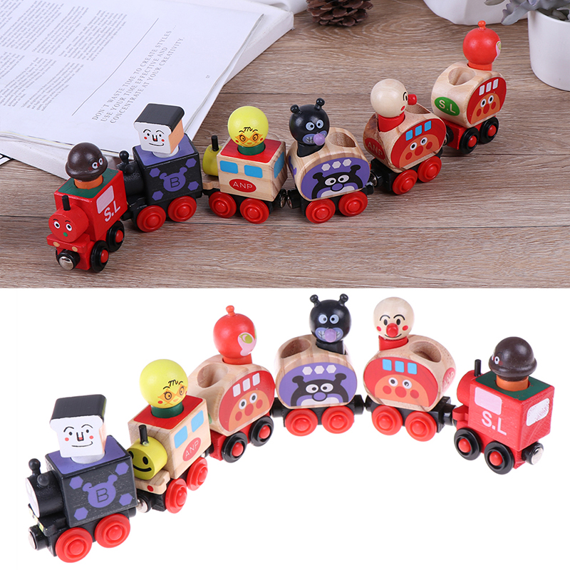 1 Set Baby Wooden Toys Toy Vehicles Magic Train Bread Surperman Educational Table Games Small Train For Children Gifts Numerous In Variety