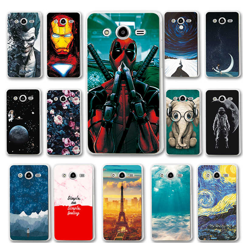 Silicon Phone Cases For Samsung Galaxy Core 2 Duos SM-G355H Dual G355H 4.5'' Back Protective Various Cover Coque Fundas Case