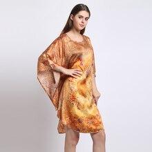 Шелковое атласное платье из натурального шелка тутового шелкопряда с цветочным принтом женские домашние платья из органической ткани женское платье