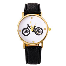 New Arrival Women Watches fashion Ladies Casual Watch Cartoon Bicycle Belt Pattern Table Quartz Watch Free shipping