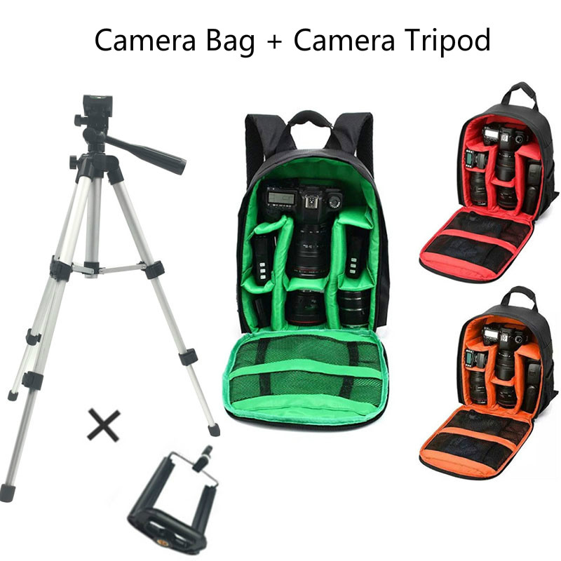 Multi-Functional Camera Bag Fotografia DSLR Camera Backpack Double Shoulder Video Case Small SLR Video Bag For Nikon Canon Sony цена 2017