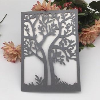 35Pcs Luxury Tree Laser Cut Wedding Invitations Card Elegant Wedding Card Event Party Supplies Birthday Party Invitations Card