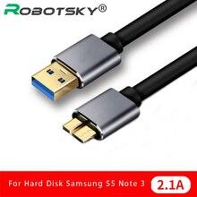 Кабель USB 3,0, быстрая скорость, USB Type A Micro B, кабель для синхронизации данных, код для внешнего жесткого диска, HDD, Samsung S5 Note 3