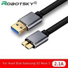 USB 3.0 kablosu hızlı hızlı USB tipi bir mikro B veri senkronizasyon kablosu kodu harici sabit Disk Disk HDD Samsung S5 not 3