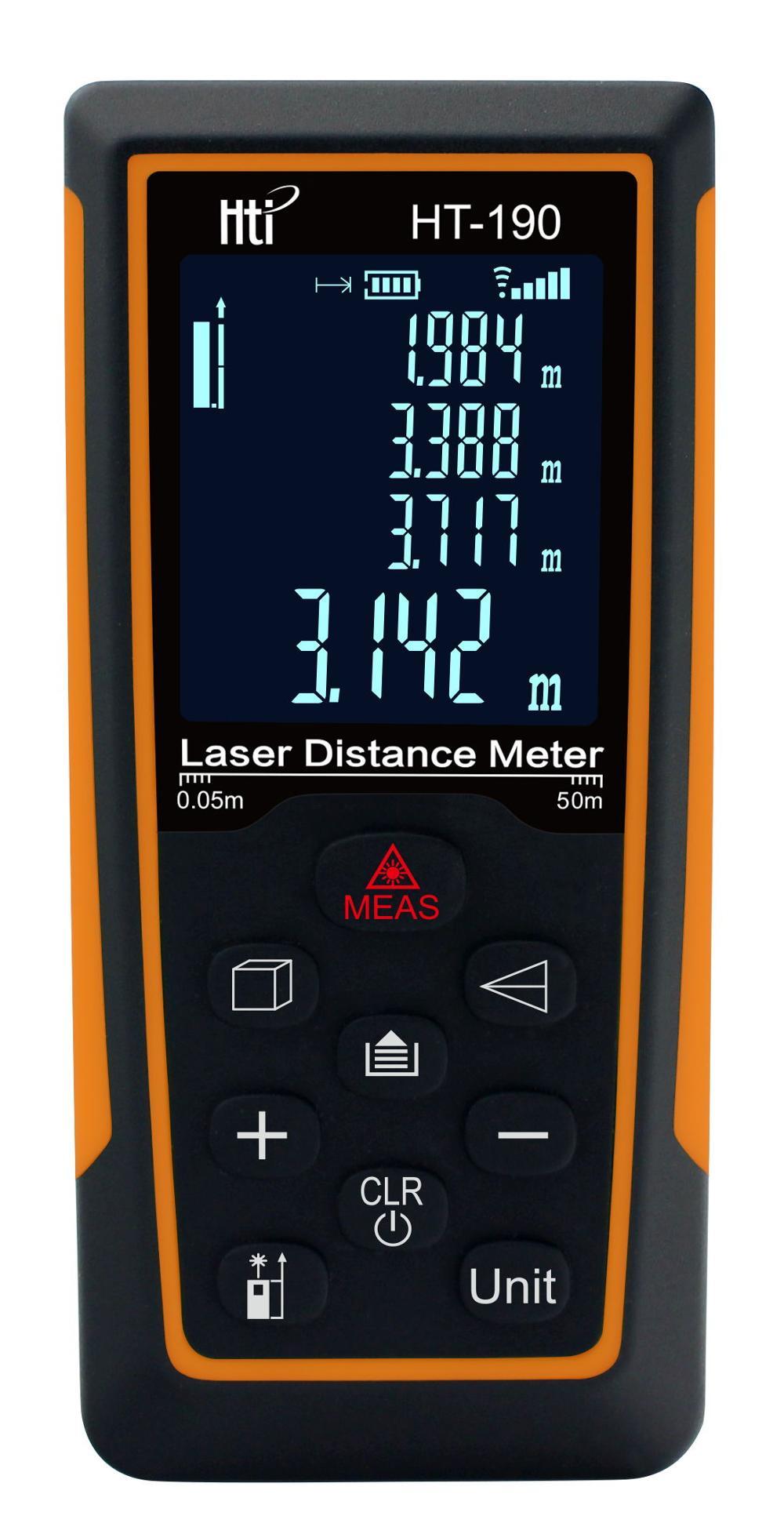 2018 New Collection Laser Distance Meter ht-190 Laser Rangefinder Laser Range Finder Diastimeter Measure Roulette цена
