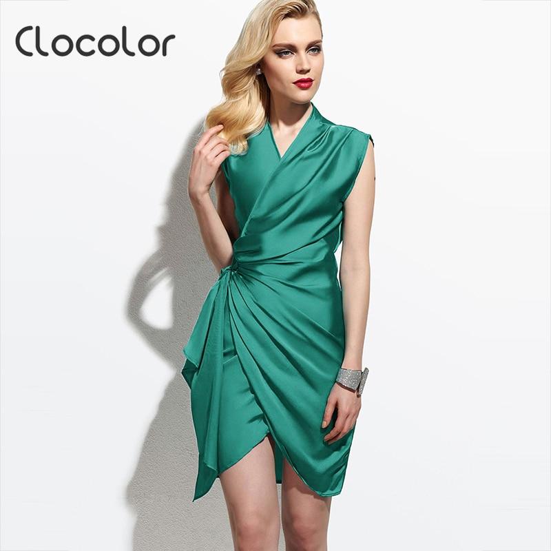 Clocolor Summer Party Vintage Elegant Women Bodycon Dress