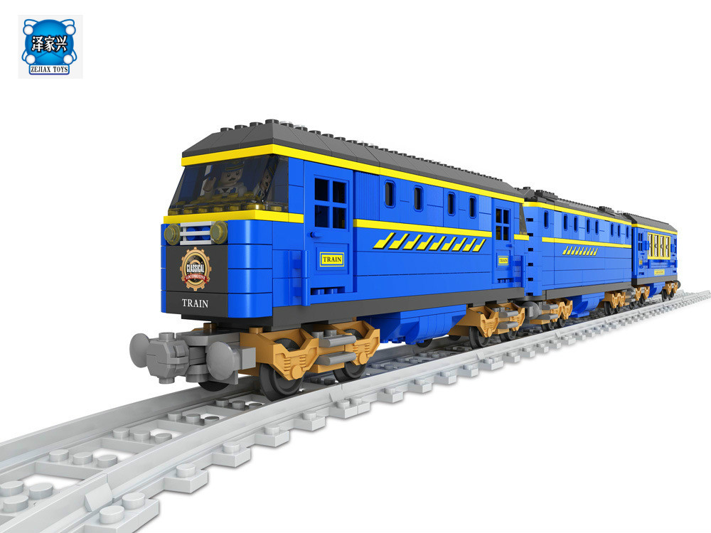 Transportation Building Block Sets Compatible with Lepins DF001 Train 3D Construction Bricks Educational Hobbies Toys for Kids