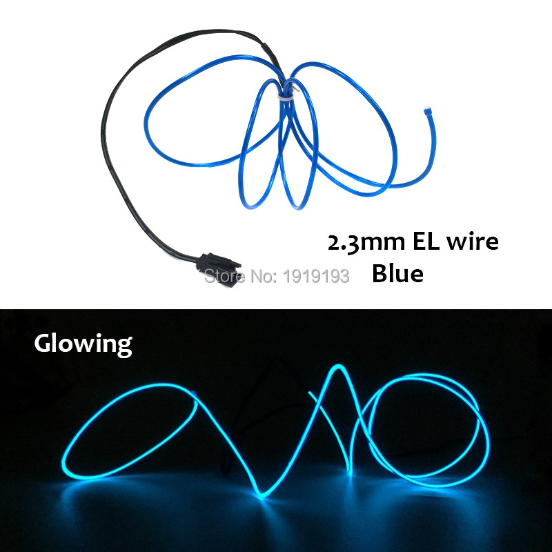 10 Color Choice 2.3mm Diameter Flexible LED Strip EL Wire Neon Rope Not Include EL Dirver For Party Home Festival Decoration ...